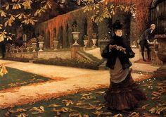 James Jacques Joseph Tissot -  Autumn on the Thames. Description from pinterest.com. I searched for this on bing.com/images