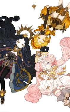 ideas for flowers art anime Art And Illustration, Character Illustration, Fantasy Kunst, Fantasy Art, Pretty Art, Cute Art, Manga Art, Anime Art, Comics Anime
