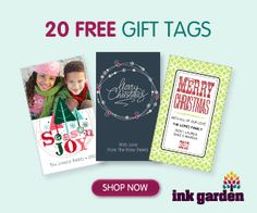 Ink Garden: 20 Free Personalized Gift Tags