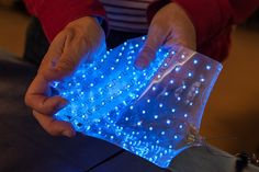 Strechible Electronics | LEDs embedded in a stretchable matrix, Integration technologies for flexible systems