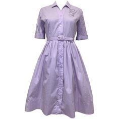 50's Lavender Sun Dress by Shirtwaist – Thrilling Weedy Sea Dragon, Full Circle Skirts, Button Up Dress, Light Purple, Lavender, Sun, Dresses, Vestidos, Dress