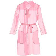 Maxmara Pianoforte Cecilia Cardi Coat (€305) ❤ liked on Polyvore featuring outerwear, coats, jackets, pink, dresses, womenclothingtopwear, sheer coat, pink coat, maxmara and collar coat
