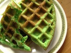 Pandan Waffles. Banh Kep La Dua, Vietnamese waffles. If you've never tried them, you're missing out! No toppings or syrups needed.