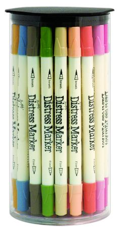Ranger Ink - Tim Holtz - Distress Marker - Full 37 Marker Set.  Only a mere 114.99.  No chance in H-E double toothpicks I will ever get it but I can dream.