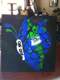 Canucks tribute butterfly
