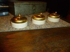 lot de 3 interrupteurs laiton porcelaine - Interrupteur Style Industriel