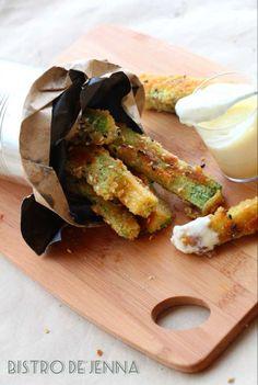 Frites de courgettes au parmesan graines et herbes de Provence