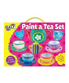 Make a beautifully-painted miniature tea set with this innovative, all-inclusive craft kit. It comes with instructions and materials to embellish and decorate everything from a teapot to a sugar bowl, and all of the items are tucked into a sweet little package perfect for creative cuties.