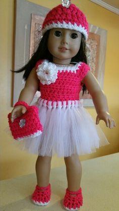 AG crochet/tutu dress - pink & White