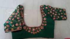 Contact no 9959368116 Crop Top Designs, Simple Blouse Designs, Silk Saree Blouse Designs, Stylish Blouse Design, Bridal Blouse Designs, Kurta Designs, Mirror Work Blouse Design, Maggam Work Designs, Designer Blouse Patterns