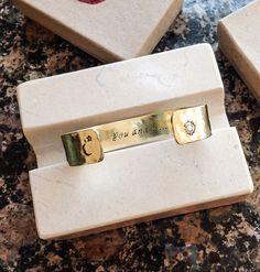 Stamped Metal Bracelet  Custom Hand Stamped by BlueCornerCreasigns