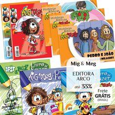 Mig & Meg - Gibis, Histórias Bíblicas, Livro de Fazer e Maleta da Editora Arco até 33%