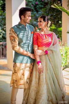 Photo from Aman & Nitish Wedding Indian Groom Dress, Wedding Dresses Men Indian, Indian Bridal Outfits, Engagement Dress For Bride, Couple Wedding Dress, Indian Wedding Couple Photography, Groom Outfit, Couple Outfits, Couple Posing