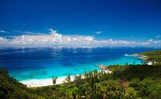 Praia de Anse Cocos, em La Digue, no arquipélago de Seychelles