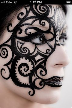 Artistic makeup....put a clock or a couple gears to steampunk