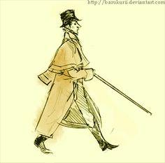 Walk cycle animation test by Barukurii