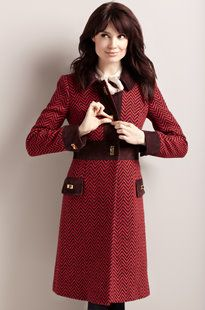 Gorgeous red coat with printed design!!... but out of my price range :\