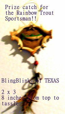 Rainbow Trout Christmas Ornament!  ** SOLD ** BlingBlinky.com