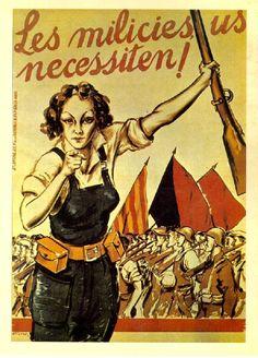 Cartel de Cristobal Arteche. Barcelona, 1936. Frente Popular.