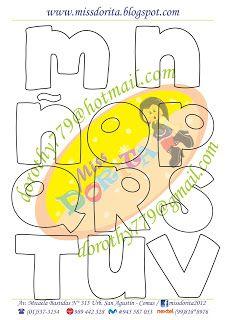 Miss Dorita: Abecedarios Hand Lettering Fonts, Doodle Lettering, Lettering Design, Felt Board Templates, Alphabet Templates, Different Lettering, Felt Name Banner, Love Doodles, Cute Fonts