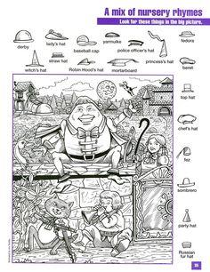 Humpty DuptyHidden pictures Coloring Page Hidden Object Puzzles, Hidden Picture Puzzles, Hidden Objects, Kindergarten Activities, Activities For Kids, Preschool, Hidden Pictures Printables, Hidden Images, Hidden Pics