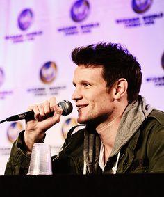 Matt Smith - Minneapolis Comic Con (May 4, 2014)  I just love his hair!