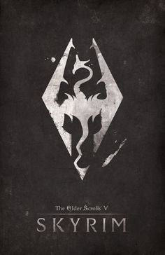 The Elder Scrolls V Skyrim video games poster designs by Dylan West.