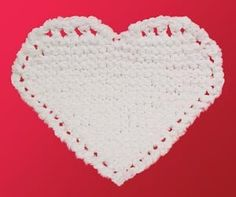 Free pattern from Lion Brand, great for a face cloth! Cute gift for Valentines!