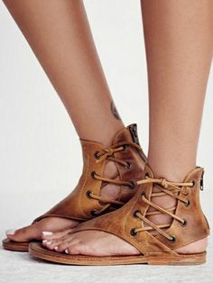 Solid Color Thong Lace-Up Flats – Veooy Womens Plus Size Trends,Latest Shoes, sandals,Bags Style Online Shopping Lace Up Sandals, Flat Sandals, Gladiator Sandals, Women Sandals, Shoes Women, Ladies Shoes, Bohemian Sandals, Sexy Sandals, Sandals Outfit