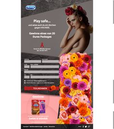 Durex AT - Life Ball activation. Facebook campaign calling the users to sign-up and let their love bloom in form of a beautiful flower. Beautiful Flowers, It Works, Campaign, Bloom, Sign, Let It Be, Activities, Facebook, Information Privacy
