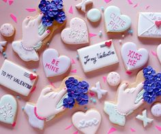 VALENTINE ICING COOKIE LESSON - THUMB AND CAKES