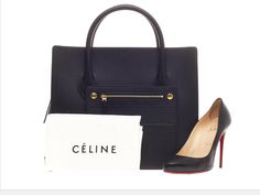 Celine boxy luggage tote bag