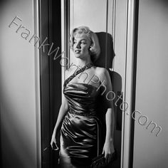 Marilyn Monroe Against Wall on Set of How to Marry a Millionaire 1953
