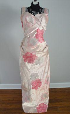Vintage 1950s 50s Designer Dress Couture Helga Formal Gown Wedding Femme Fatale. $190.00, via Etsy.