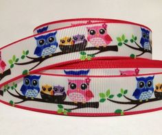 7/8' Owls on Branches Craft Printed Grosgrain Ribbon 3 Yards, Mixed ** Check this awesome product by going to the link at the image.