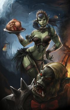 Orc Picture  (2d, fantasy, illustration, orc, girl, woman)