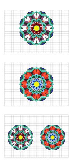 Korean Traditional Pattern Design [단청] on Behance Korean Traditional, Traditional Design, Traditional Outfits, Korea Tattoo, Korean Colors, Korean Crafts, Korea Design, Korean Painting, Oriental Pattern