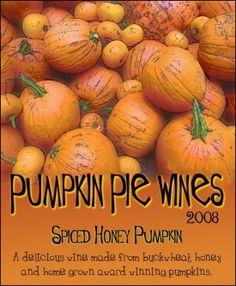 Pumpkin custom wine label from Noontime Labels