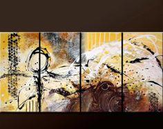 ABSTRACTO pintura arte moderna Original por encargo por wostudios