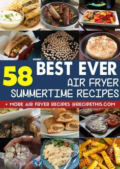 Air Fryer Summer Recipes   Recipe This Air Fryer Summer Recipes. Introducing you to the best and biggest list of air fryer summer recipe ideas. From chicken dishes to vegetarian to summer squash we have it covered. Browse through our summer air fryer recipes and plan your meals for this summer and beyond. #airfryer #airfryerrecipes #summerrecipes #airfryersummer<br> Air Fryer Summer Recipes. Introducing you to the best and biggest list of air fryer summer recipe ideas. From chicken dishes to… Air Fryer Dinner Recipes, Air Fryer Recipes, Barbecue Recipes, Grilling Recipes, Barbecue Sauce, Recipes Using Hamburger, Everyday Dishes, Everyday Food, Healthy Grilling