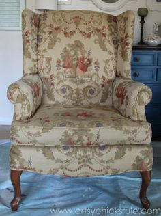 Chalk-Painted-Upholstered-Chair-Makeover-Before-artsychicksrule.com-paintedupholstery-chalkpaint-diy-1-600x804