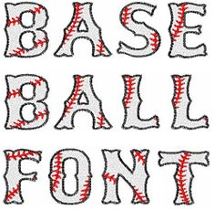Baseball Font for machine embroidery