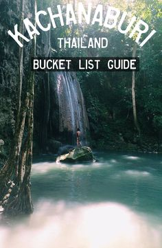 The best Thailand Waterfalls. Pictures and guides to the best Waterfalls in Thailand. Erawan Waterfall is located in Kachanaburi Erawan National Park, National Parks, Thailand Travel, Asia Travel, Places To Travel, Places To See, Travel Destinations, Laos, Travel Tips