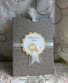 Gutscheinverpackung-für-Shoppinggutscheine-Geschenkkarten-Zoo Babies-Taupe-Loewe-1