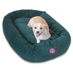 32 inch Marine Villa Collection Micro Velvet Bagel Dog Bed By Majestic Pet Products ** See this great product. (This is an affiliate link and I receive a commission for the sales)