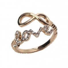 Infinite Love Gold Wrap Ring