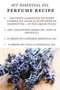 an easy DIY essential oil perfume recipe with vanilla and lavender #VanillaEssentialOilblends #VanillaEssentialOilperfume
