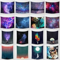 Indian Mandala Tapestry Hippie Wall Hanging Galaxy Fox Bedspread Throw Yoga Mat | eBay