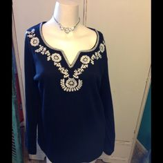 Brand New Top Beautifully Designed Black Top WomanWithin Tops