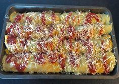 Naleśniki zapiekane z mięsem i warzywami - Blog z apetytem Lasagna, Macaroni And Cheese, French Toast, Menu, Breakfast, Ethnic Recipes, Blog, Lasagne, Menu Board Design